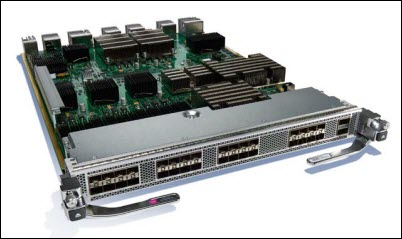 This figure shows the MDS 9000 24/10-Port SAN Extension Module.