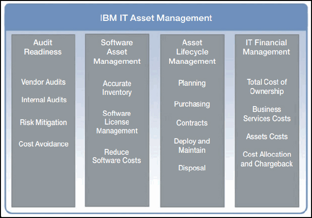 Software asset management value areas